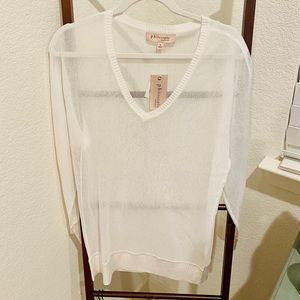 Philosophy sheer white top (NWT)